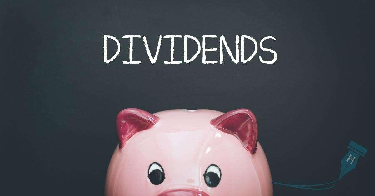 dividend and piggy bank